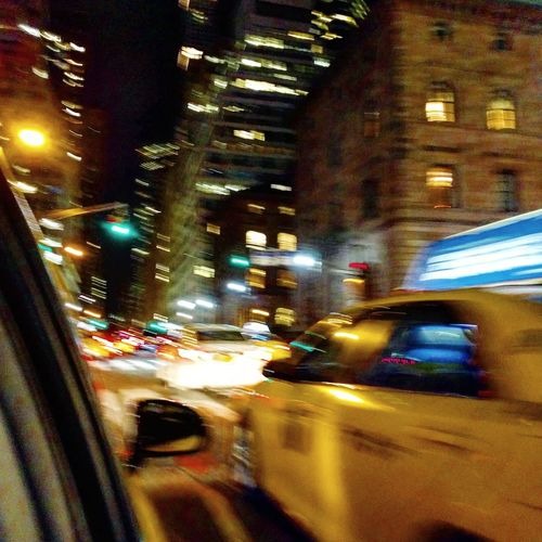 Night out in the city that never sleeps! Transportation Night Car Illuminated City Land Vehicle Travel City Life No People Road Traffic Car Interior Motion Outdoors New York City Streetphotography New York City Yellow Taxi Yellow Cab Driving Around Driving Through The City The Street Photographer - 2017 EyeEm Awards