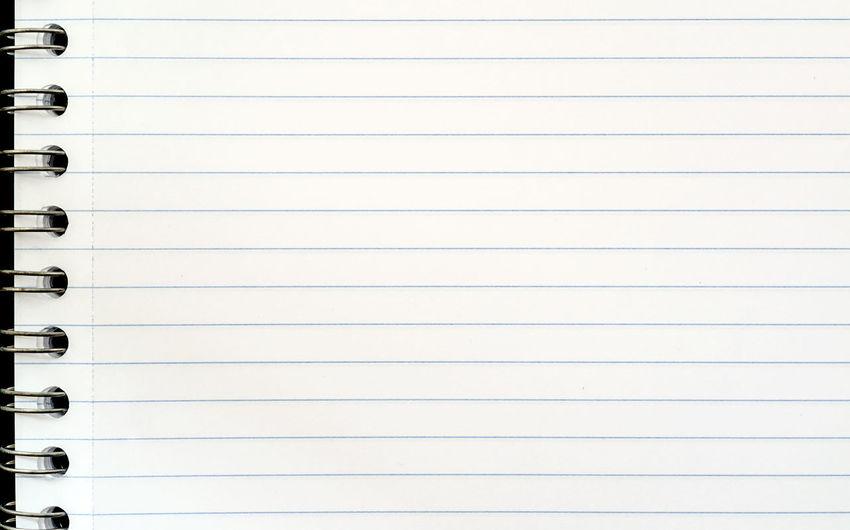 Full frame shot of lined paper