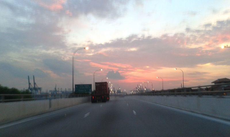 Cloud Cloud - Sky Far Far Away Horizon Journey Light Mode Of Transport Orange Color Outdoors Sky Sunset