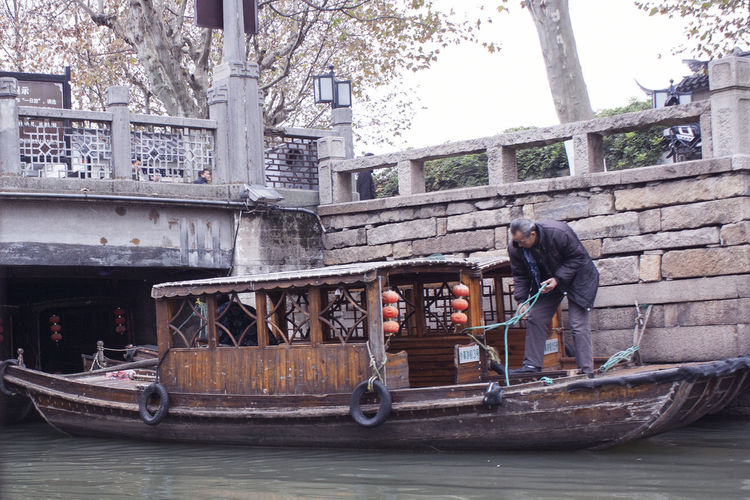 Architecture Boat Built Structure Canal Canon EOS 5DS China China Beauty China Culture China Photos Chinatown Chinese Culture City Life Full Length Mode Of Transport Parked Ping Jiang Pingjiang PIngjiang Road Suzhou Suzhou China SUZHOU PINGJIANG ST Suzhou River Suzhou, China Tourist Attraction  Venice Of The East