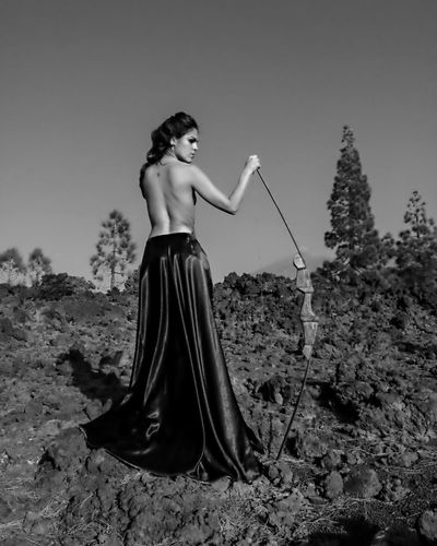Woman Portrait Nature Photography Portrait Of A Woman EyeEmNewHere EyeEm Nature Lover EyeEm Best Shots Eyengallery 500px Naturelovers Tenerife Island SPAIN Europe Canary Islands People Of EyeEm Canariasviva Teide National Park Blackandwhite Black And White Blackandwhite Photography Relationship Difficulties Females Full Length Rural Scene Evening Gown Arid Climate Arid Landscape