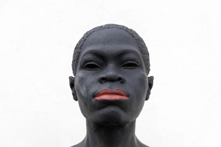 EyeEm Best Shots Eye4photography  EyeEm EyeEm Best Pics Close-up Africa African Art Human Representation Art And Craft Representation One Person Red Human Face Front View Portrait Headshot White Background Statue Sculpture