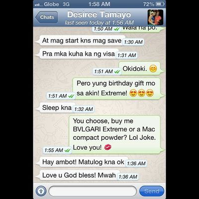 """""""This is how I convince my mom to get me the present I want for my birthday. Lol. I love you Mom, @DesBTamayo"""""""