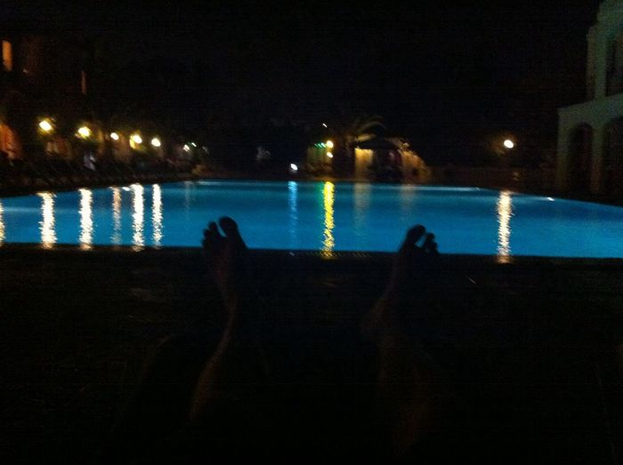 Relaxing at the Pool in Malta Night
