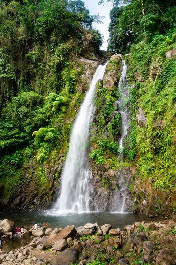 Ulan ulan Falls Philippines Leyte Tacloban  Waterfall Water Tree Waterfall Spraying Motion Long Exposure Sky Grass Green Color Flowing Water Surf Rushing Power In Nature Crashing Force Wave Splashing Fountain Flowing Rock