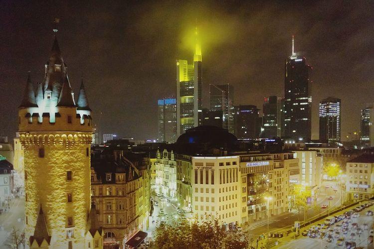 Frankfurt City Lights Nightlife Skyline Frankfurt Am Main Cities At Night