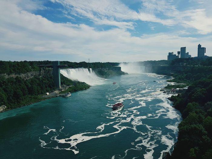 Niagara falls on a beautiful day