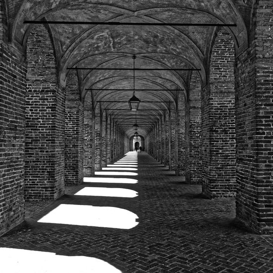Midday light and shadows Arch Architecture Asymmetrical Beatiful Oldie Beatifull Built Structure Corridor Day Mantua Palace Garden Shadow Sunlight The Way Forward First Eyeem Photo