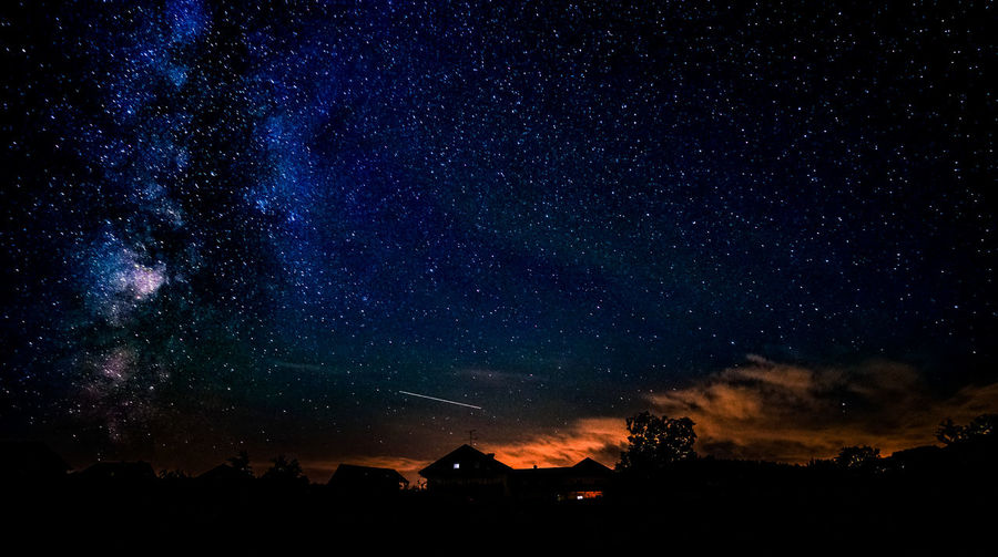 Scenic view of star field sky at night