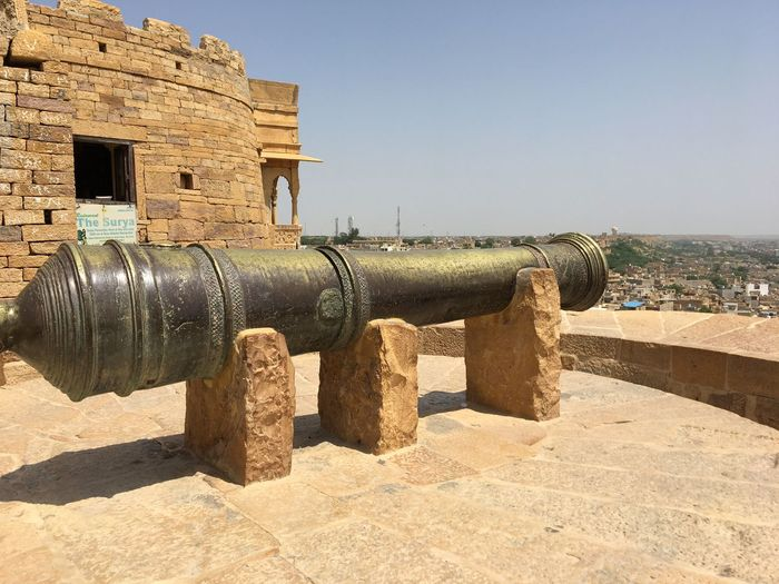 Ancient Ancient Civilization Architecture Building Exterior Built Structure Cannon Canon Clear Sky Day Fort History Military Nature No People Outdoors Sky Sunlight The Past Travel Destinations War Weapon