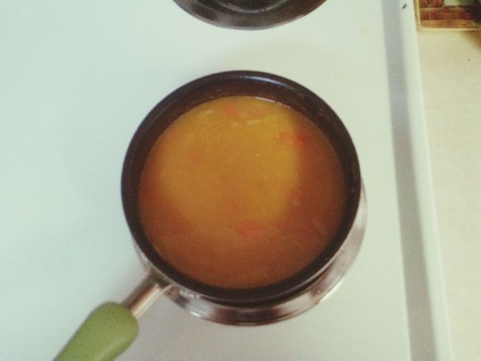 whats for dinner? mmmmmm yummy veggie bfeef soup right out the pot with a big spoon life ahhh living large