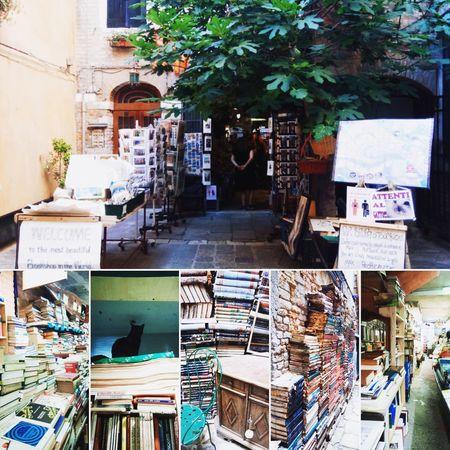 """libreria """"Acqua Alta"""" a Venezia Books Library Library Book Venezia Venice, Italy City Architecture Shop Collection Various Collage"""