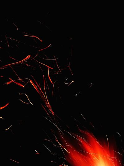 Fire Black And Red Red Illuminated Sky Sparks Light Painting Sparkler Glowing Fire - Natural Phenomenon Long Exposure Burning Entertainment Bonfire Fire Pit Firework - Man Made Object Firework EyeEmNewHere Inner Power This Is Queer