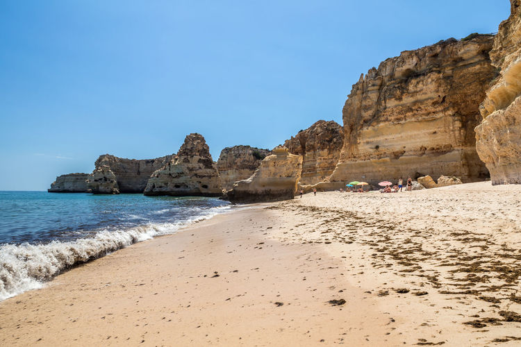 Praia da Marinha, Carvoeiro, Portugal Rock Rock - Object Rock Formation Solid Nature Scenics - Nature Land Sky Day Beauty In Nature Outdoors Portugal Algarve Carvoeiro Praia Da Marinha