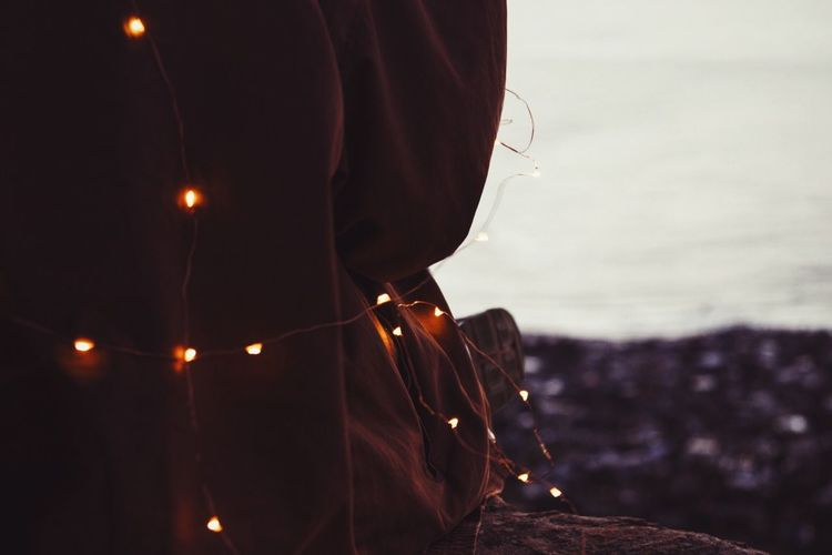 Fairies coming out to play at dusk Person Close-up Focus On Foreground Fairylights Dusk Dusk In The City Sunset First Eyeem Photo