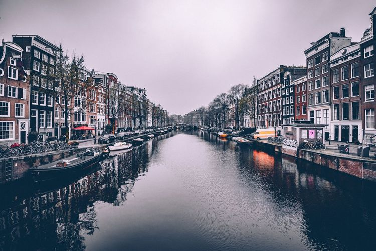 Amsterdam Building Exterior Architecture Water Built Structure City Sky Building