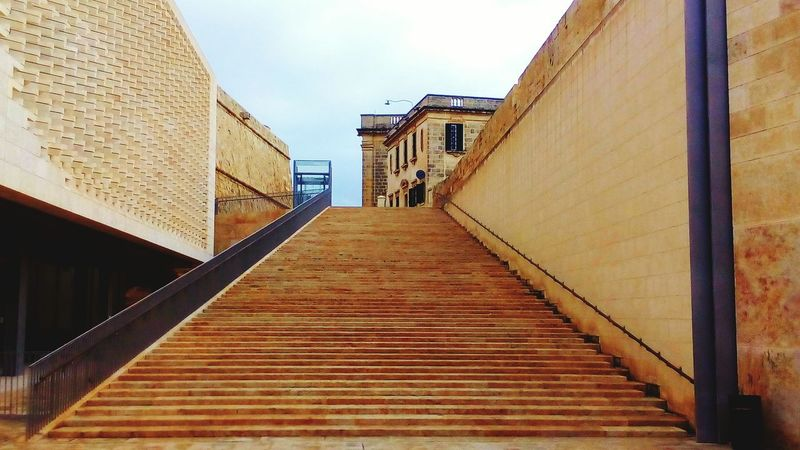 The Way Forward Building Exterior Architecture Built Structure Staircase Malta Architecture