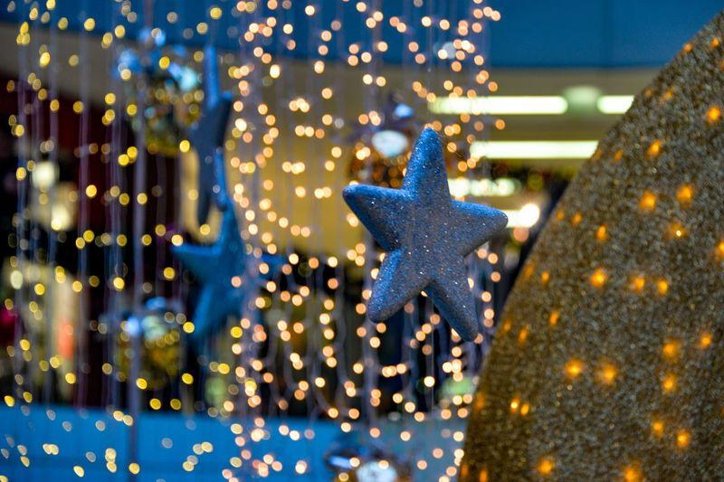 Christmas shopping Illuminated Night Christmas Decoration No People Close-up Christmas Christmas Lights Glitter Indoors