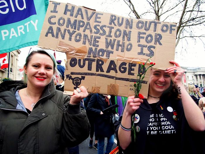 Womens March. London. 19/01/2019 LONDON❤ Equality Protesters Womens March 2019 Womens March Womens March London Protest London News Stevesevilempire Steve Merrick OM-D Olympus Text Communication Women Architecture City People Script