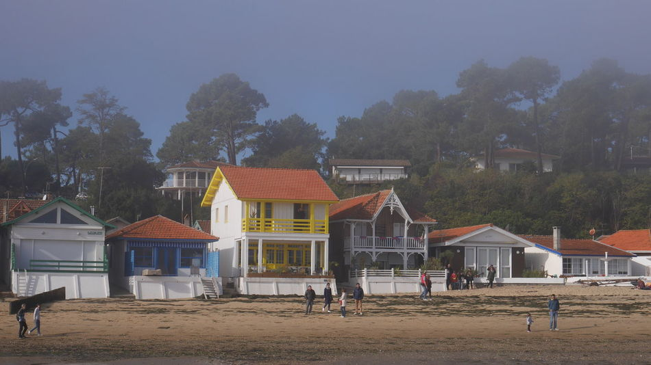 Bassin D'Arcachon Architecture House Building Exterior Built Structure Arcachon Nature Foggy Day Foggy The Purist (no Edit, No Filter) No Filter Architecture Beach Nature Photography Travel Destinations Village Architecture_collection Architecturelovers Gironde Colors Travel Nofilter Sea Front