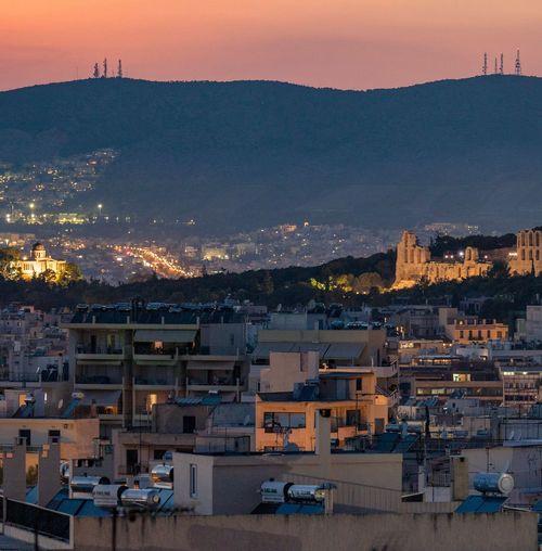 Athens sunset