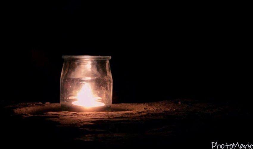 • L'homme apprivoise • Nocturne St Restitut VTT Bougie Flamme Evenement Feu