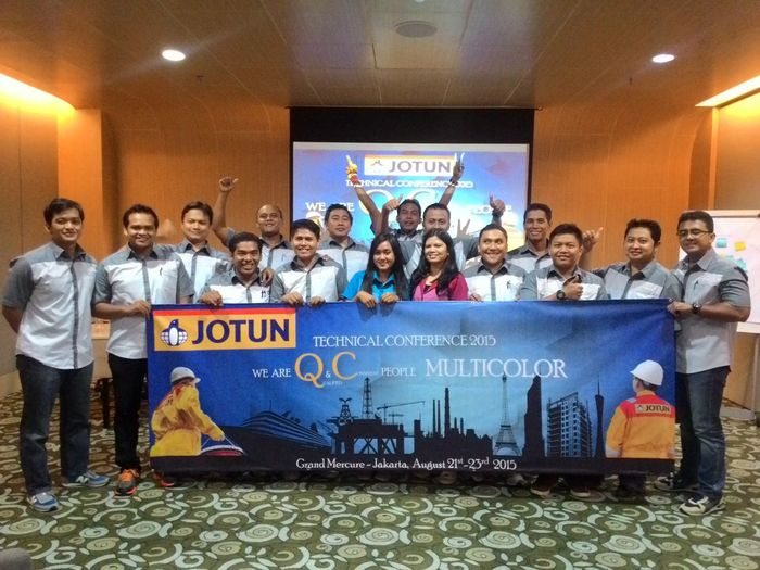 We are team 2015 jotun indonesia all crew Jotun Paint INDONESIA Bussiness Mcidepartment Multicolorworld