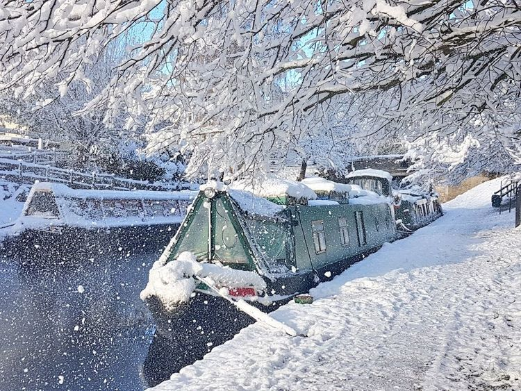 Snow Canal Winter Canalboat Canals And Waterways EyeEmNewHere Snowing Shades Of Winter