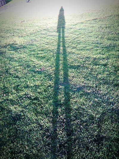 Stand tall. Creative Light And Shadow Self Portrait LongLegs SlenderMan Old Phone Photo