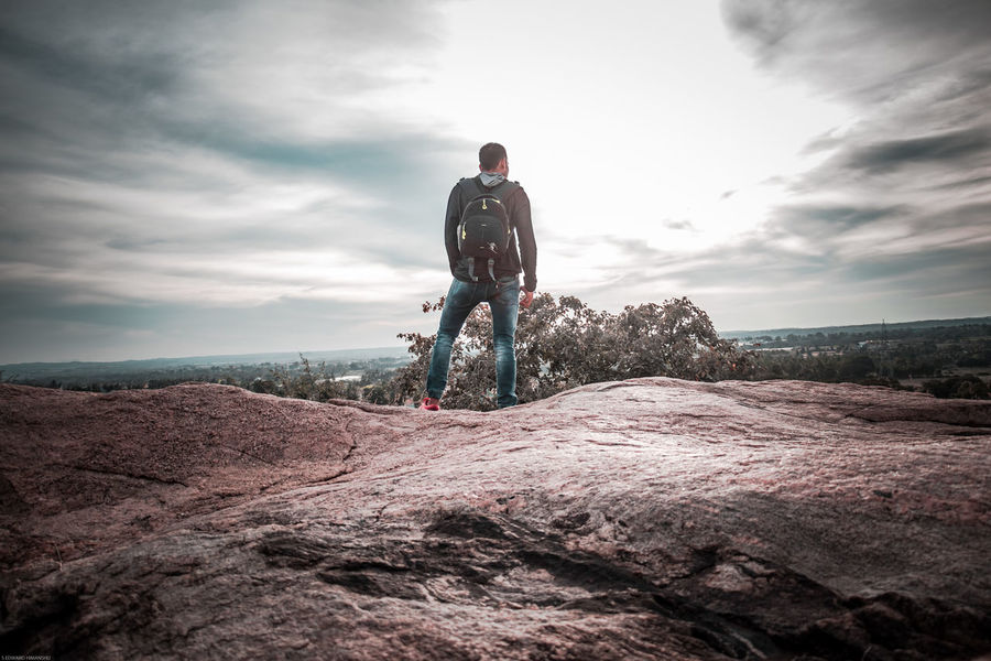 Winds of high.. Rocks Traveling Peace Exploring View One Man Only Only Men Adults Only One Person Adult Full Length People Cloud - Sky Sky Healthy Lifestyle Outdoors Day Standing Activity Landscape Sports Clothing Sport Men
