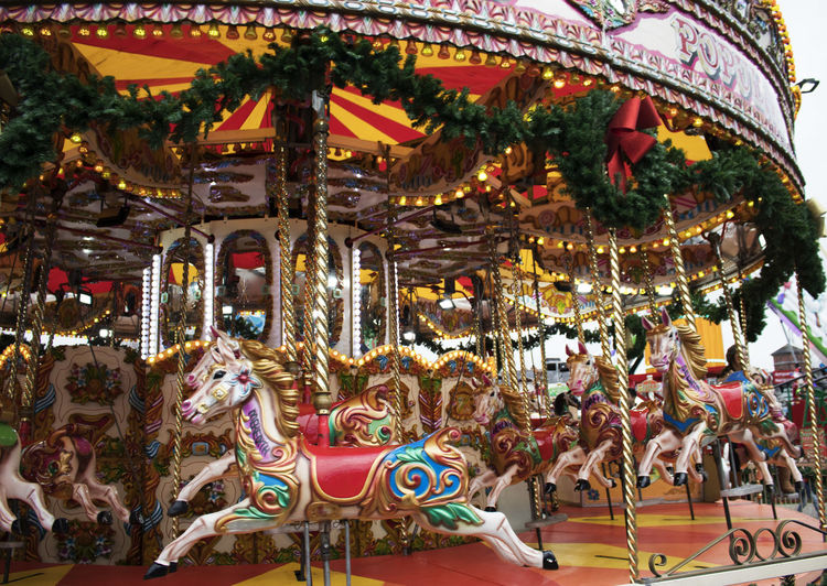 Carousel horses Roundabout Art Amusement Park Amusement Park Ride Animal Representation Carousel Carousel Horses Day Fun Of The Fair Multi Colored