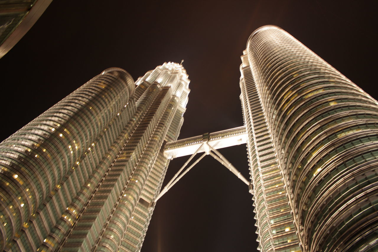 built structure, architecture, low angle view, night, building exterior, tourism, travel destinations, no people, travel, illuminated, city, sky, nature, tower, building, arch, tall - high, the past, outdoors, skyscraper, office building exterior