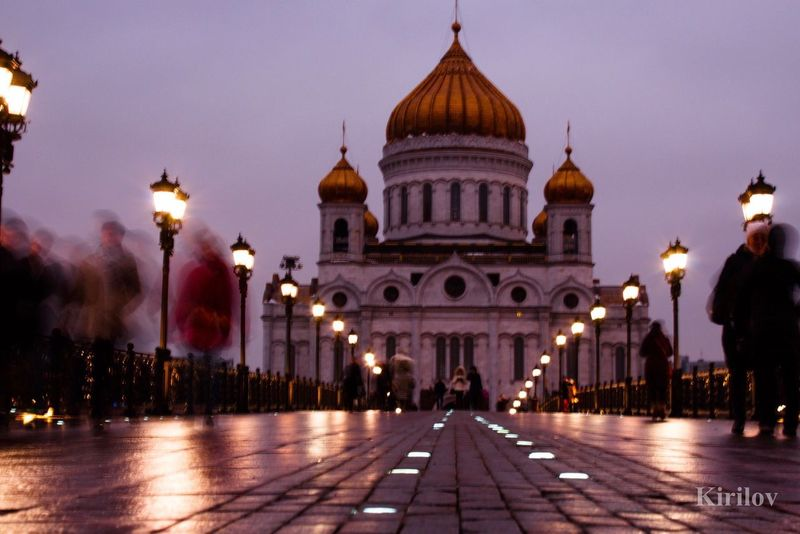 Church Cathedral Cathedral Of Christ The Savior ХХС Москва ХрамХристаСпасителя Architecture Built Structure City Religion Moscow Outdoors Evening