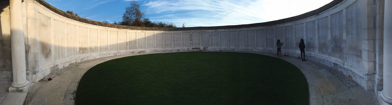 Some many people lost their lives in WW1 Panoramic Sky Day No People Curve