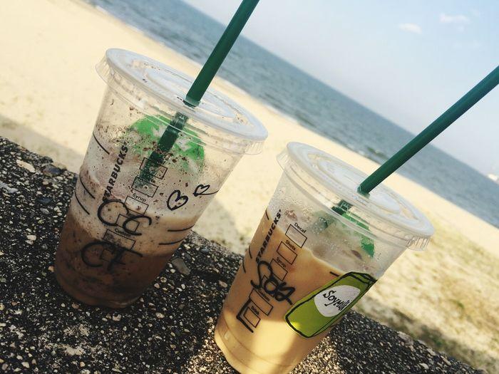☕ Starbucks Coffee Sky Drink Sea Bbf<3 Happy Day