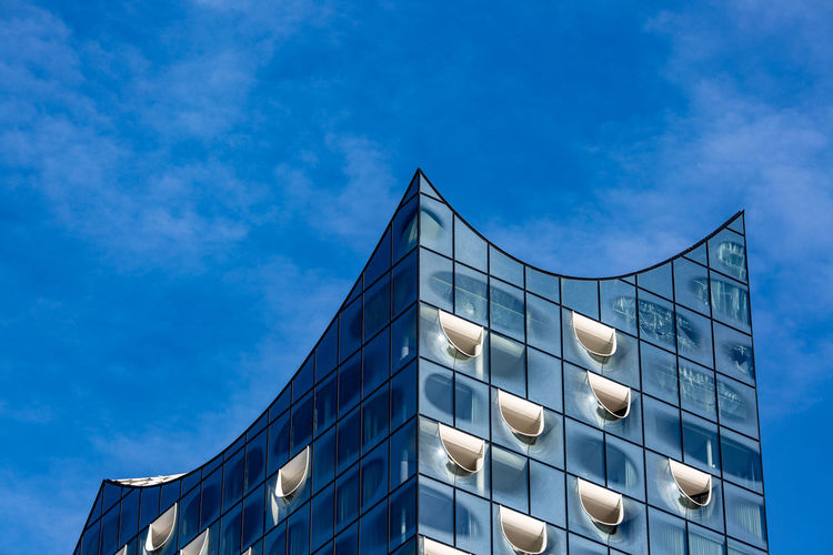 Built Structure Architecture Sky Building Exterior Building Blue Modern Window No People City Outdoors Geometric Shape Day Hamburg Elbphilharmonie