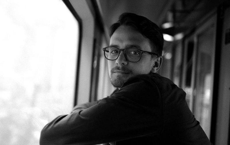 Tyler on the train somewhere in France Film Man Transportation Travel Traveling Black And White Blackandwhite Boy Day Eyeglasses  Filmisnotdead Focus On Foreground Indoors  Lifestyles Looking At Camera One Person People Person Portrait Real People Side View Train Young Adult Young Man Young Men Done That. Connected By Travel