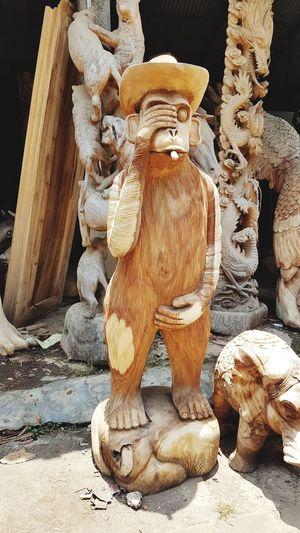 Monkey Art Wood