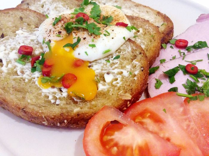 Warsaw Poland Foodporn Eggs Ham Portugueseinwarsaw Lazy Dinner Dinner Easy