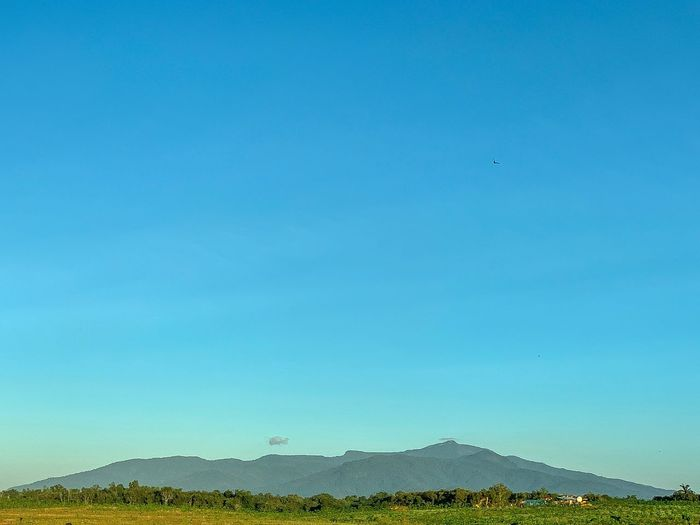 Beautiful scenic view of gunung jerai Blue Beauty In Nature Sky Scenics - Nature Environment Tranquility Tranquil Scene No People Landscape Copy Space Mountain Clear Sky Non-urban Scene