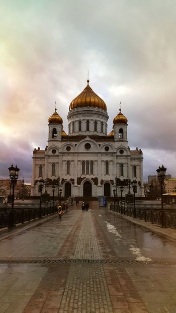 Dome Travel Destinations Travel Cloud - Sky Sky Architecture Architecture Built Structure City Building Exterior Cathedral Of Christ The Savior Moscow Russia Cathedral Spirituality Orthodox Church Orthodox Place Of Worship Day Outdoors Religion