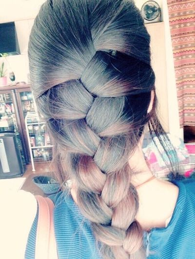My Hair Hair Hairstyle Black&brown Frenchbraid Braid