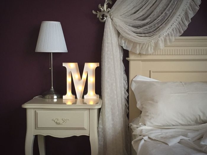 Interior Design Interior Style Interior Decorating Interior Photography Interior Decoration Lamp M Pillow Bed Bedroom My Favorite Place Lieblingsteil Home Interior Capital Letter Communication Electric Lamp Hanging Home Showcase Interior Letter M Lighting Equipment No People Textile Table