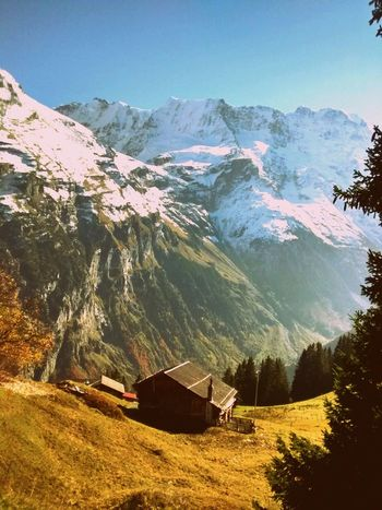 Landscape_Collection Mountains Blue Sky Bernese Oberland Switzerland Nature_collection Snow