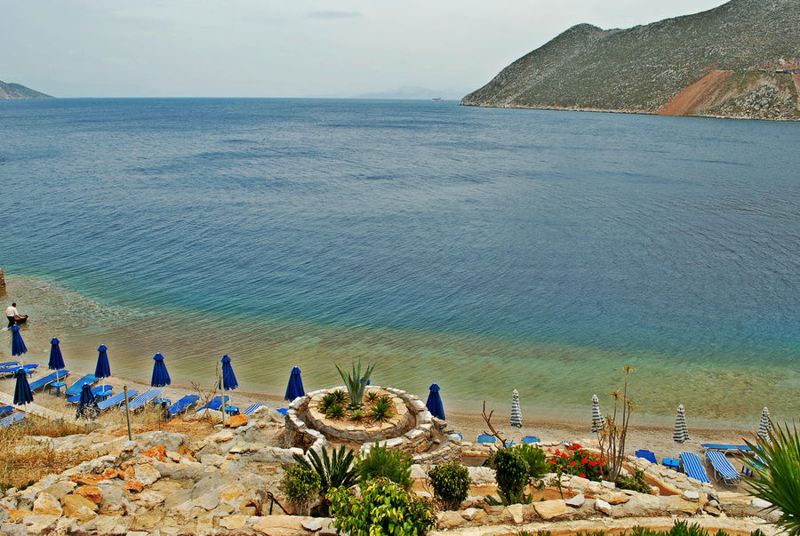 Private beach Beach Beauty In Nature Day Grecja Greece High Angle View Hoidays Horizon Over Water Nature No People Outdoors Plant Private Beach Rodos Greece Ródos Sand Scenics Sea Sky Tranquil Scene Tranquility Travel Destinations Vacations Wakacje Water