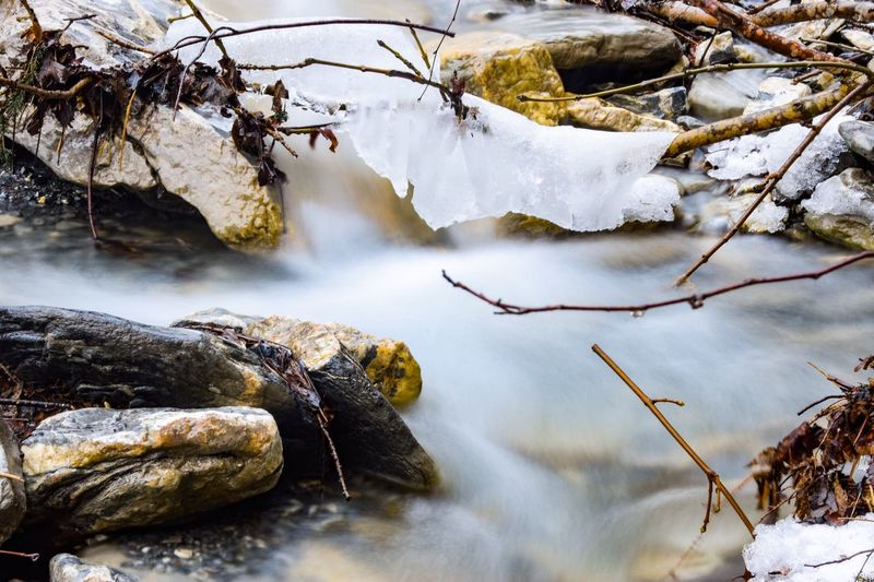 #tb two years ago when i hiked a mountain creek as much up as possible to find minerals. Nature Alps Mountain EyeEm Selects Tree Beauty In Nature Winter Water Nature Plant No People Cold Temperature Rock Snow Solid Day Scenics - Nature Outdoors Flowing Water Branch Forest Land Capture Tomorrow