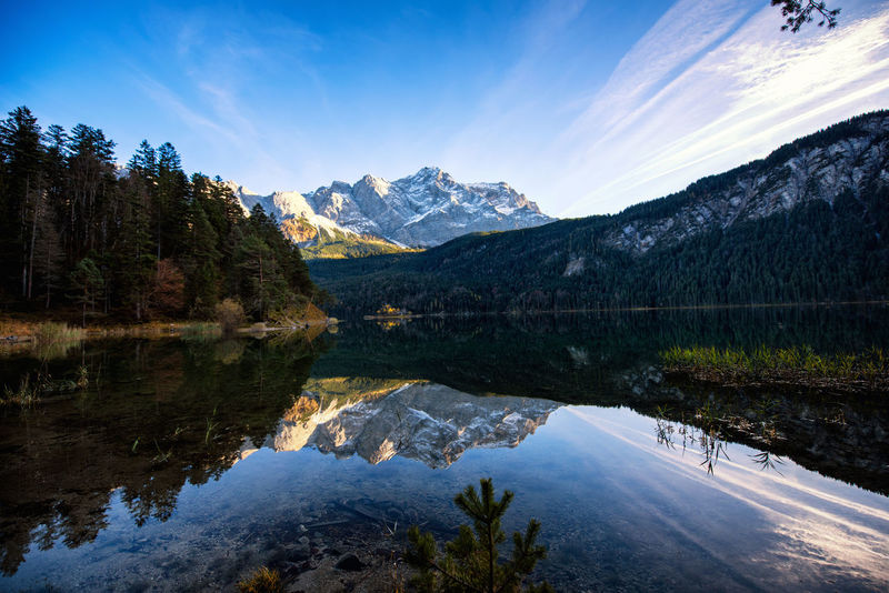 Grainau, Germany lake Beauty In Nature Blue Day Lake Landscape Mountain Mountain Range Nature No People Outdoors Reflection Scenics Sky Snow Tranquil Scene Tranquility Tree Water Waterfront