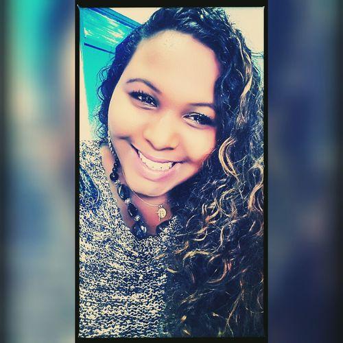Taking Photos Selfie Enjoying Life Smile French Girl Blackgirl Biggirl Creole Girl Metissage Curly Hair