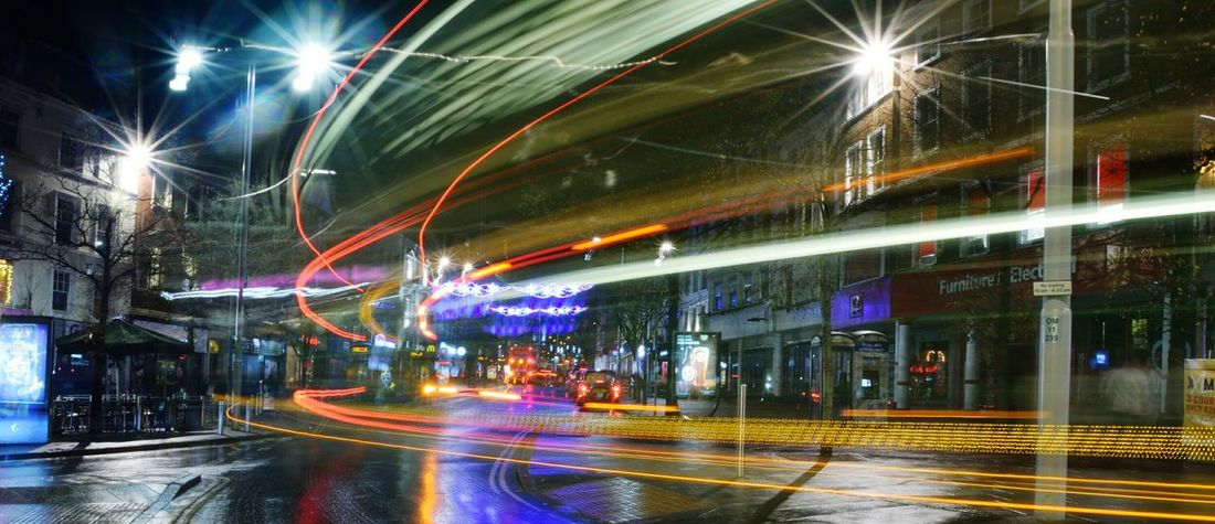 Light trails on Nottingham Market Square Blurred Motion Light Trails Light Trail Photography Bus Bright Nottingham Market Square Nottingham Market Square Long Exposure Shot Long Exposure Night Photography Night Illuminated Long Exposure Light Trail Road Speed Street Motion City Transportation Outdoors EyeEm Ready   Mobility In Mega Cities