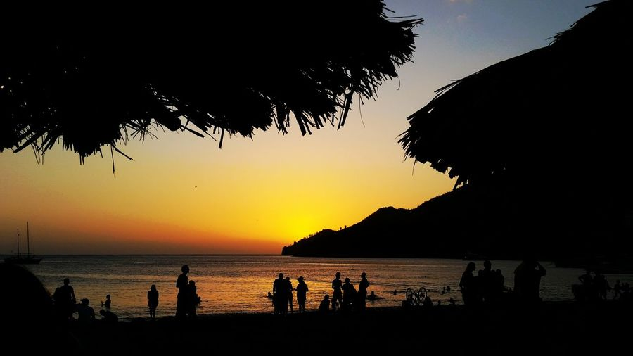 Sunset Beach Beer Sun Book Chilling Hills Stunning Holiday Mode! Taganga Colombia Solo Traveler!